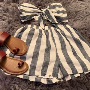 Adorable striped crop top with matching shorts